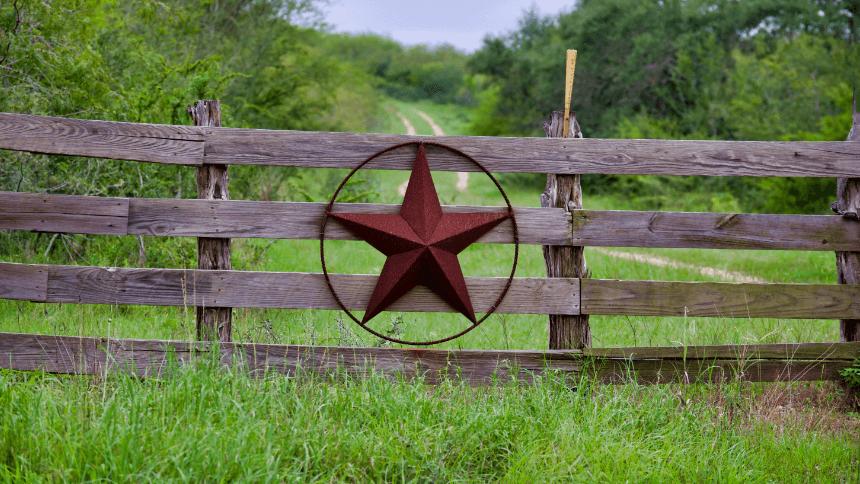 Farm fence with texas star